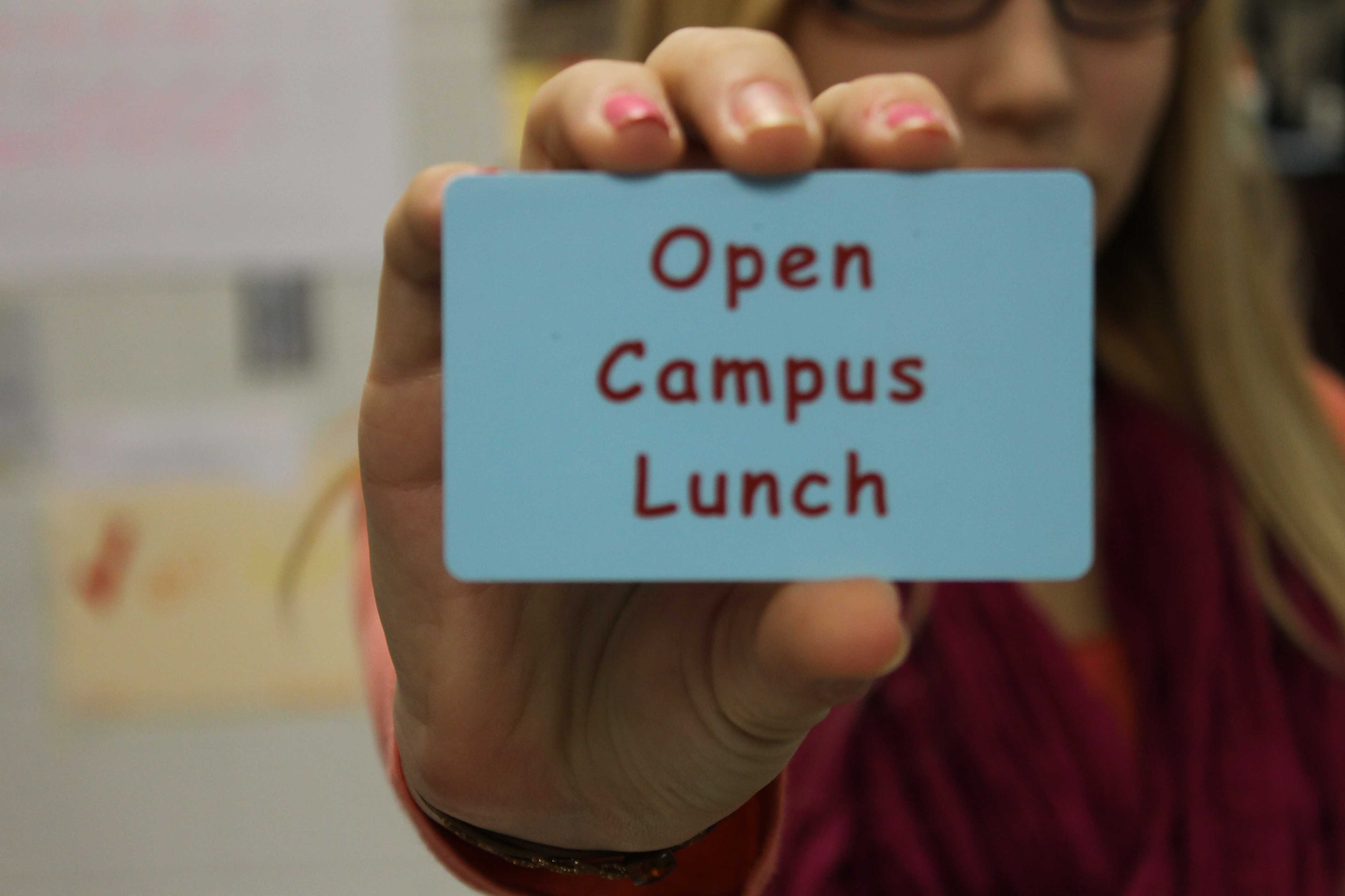 """open campus lunches essay Open campus lunch is a controversial topic that can often be """"swept under the rug"""" so to speak schools often have closed campus lunch because an open campus."""