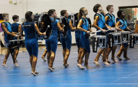 Indoor percussion prepares for competition