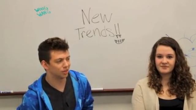 Erin+and+Michael+talk+about+the+latest+trends+in+this+year%27s+last+Trendy+Trends