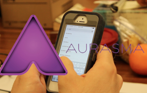 Yearbook adviser Aaron Stueve explains how to use Aurasma