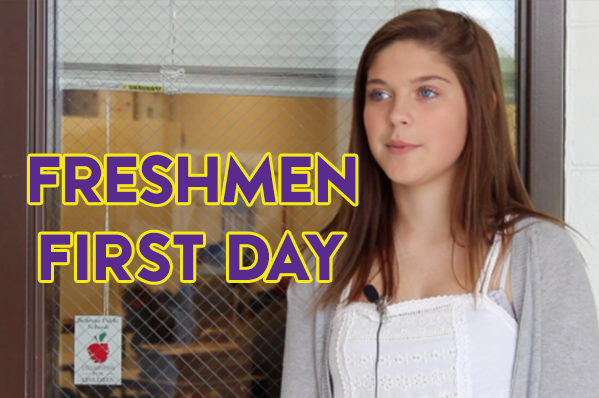 Freshmen share their thoughts on the first day of high school