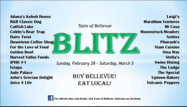 An old flyer promoting Bellevue restaurants was one element of Garrett Sims Tastes of Bellevue Facebook group. The contest ended March 5.