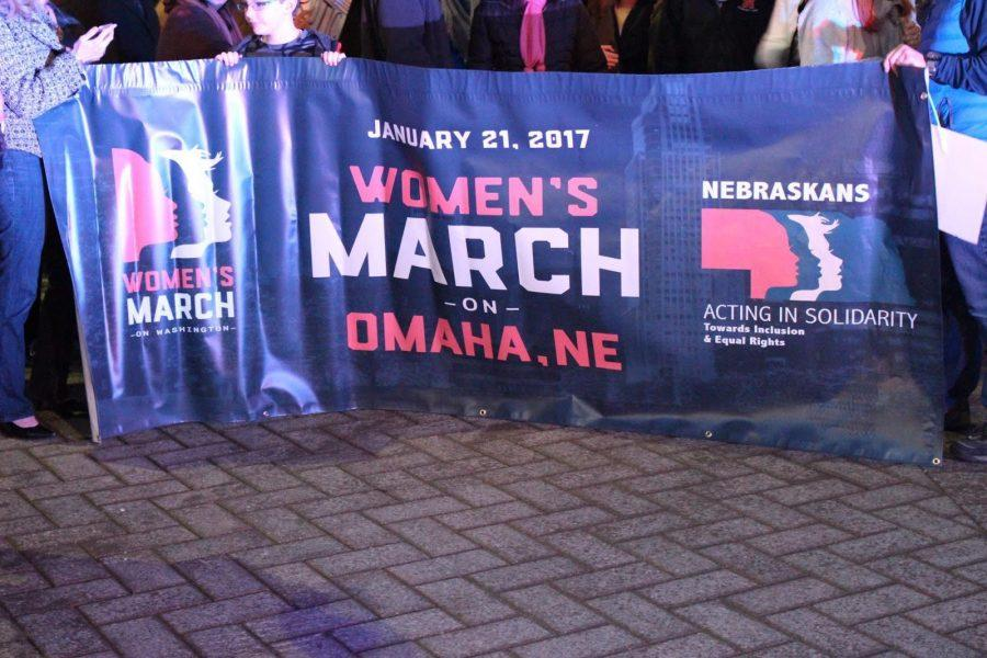 Men+and+women+from+around+the+Omaha+metro+area+gathered+at+the+CenturyLink+Center+to+peacefully+protest+Trump%27s+inauguration.++