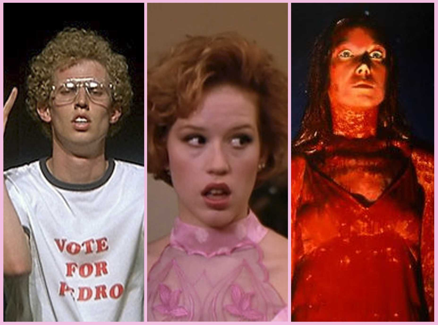 Napoleon Dynamite's promposal, Carrie's prom queen ceremony and Andie's arrival at prom all encompass prom experiences.