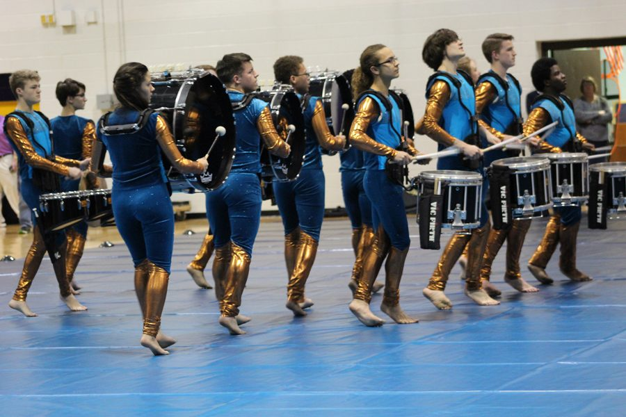 Indoor+Percussion+performs+their+show+%22Beneath+the+Bermuda+Triangle%22+during+GPS+on+March+31.