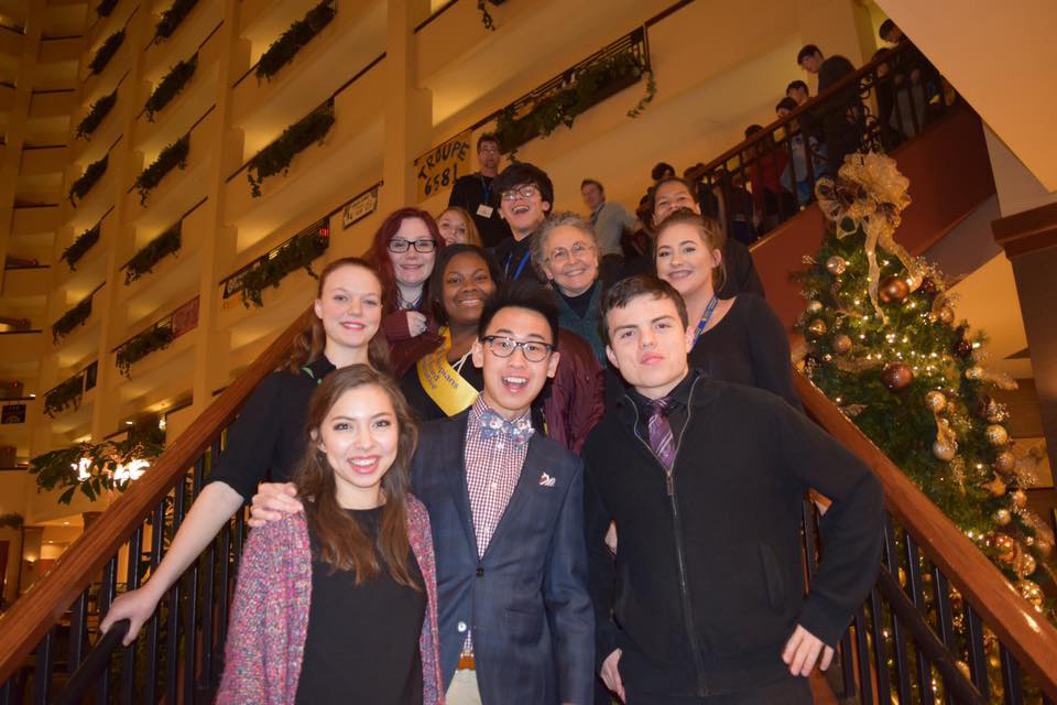 Marya+Lucca-Thyberg+and+members+of+the+Bellevue+West+Chapter+of+the+International+Thespian+Society+attend+their+annual+conference+in+Jan+of+2017.