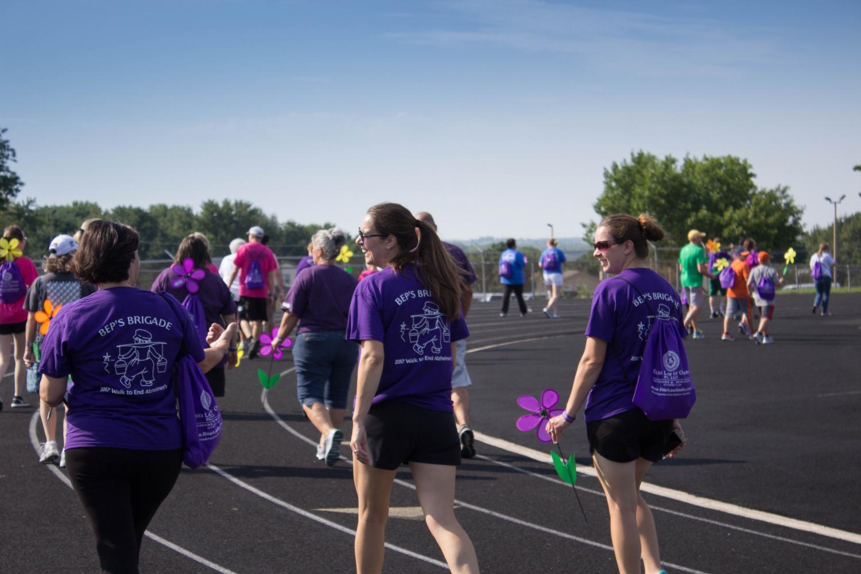 Bellevue West hosts walk for Alzheimer's