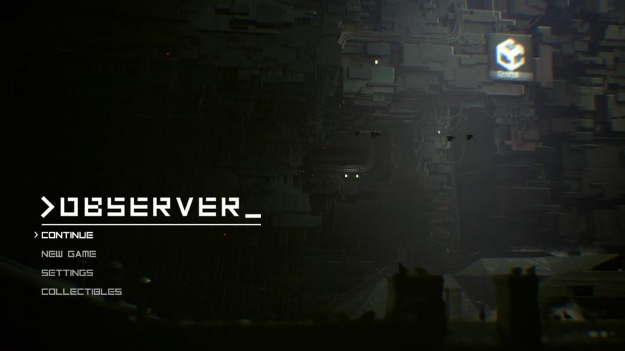 The+title+screen+of+%22Observer%22+%28also+known+as+%3Eobserver_%29+establishes+the+mood+for+the+rest+of+the+game.