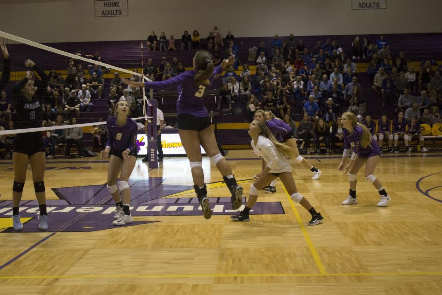 Volleyball recap: T-Birds fall in straight sets to Marian