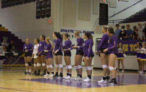 Bellevue West Volleyball vs. Marian High 8/28/2018 photo essay
