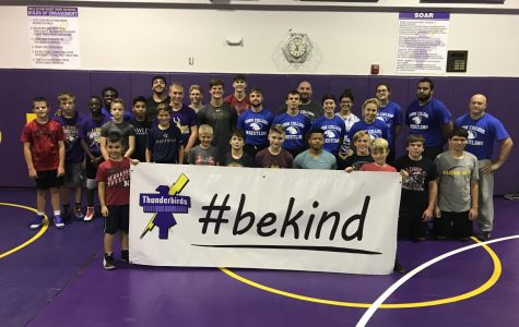 "Bellevue West hosts free wrestling clinics as part of ""#BeKind"" initiative"