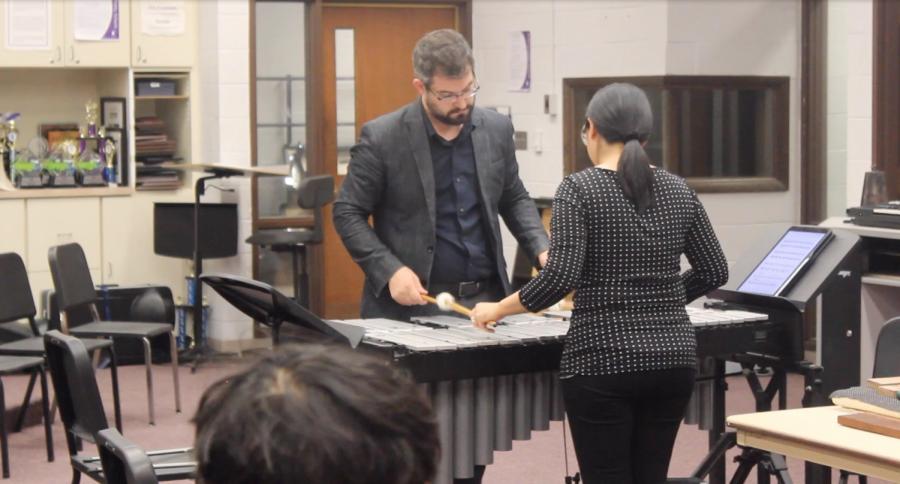 Arx Duo teaches Percussion Master Class