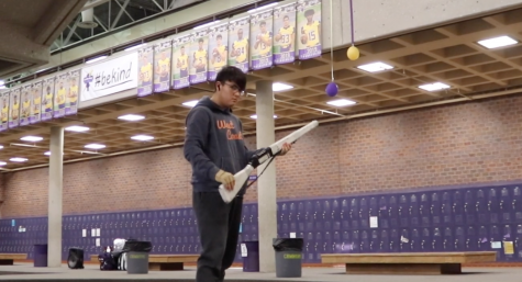 Junior Martin Garcia shares his experience with guard