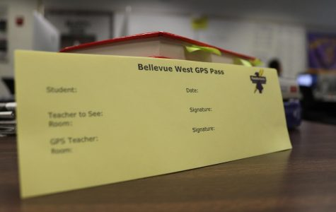 Students are supposed to use the new yellow passes to go to different GPS classrooms.