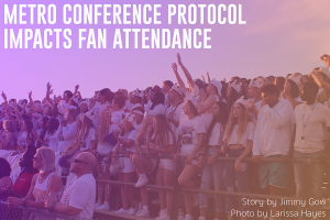 Fans fill the Bellevue East stadium for the 2019 East-West game. The 2020 game will have a fraction of the fans due to COVID-19.