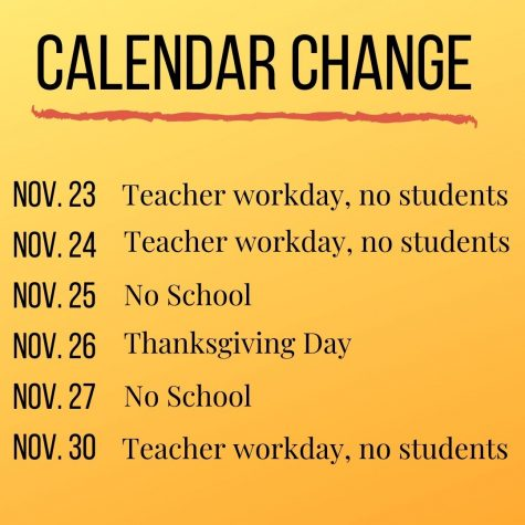Bellevue Public Schools announces change to November schedule