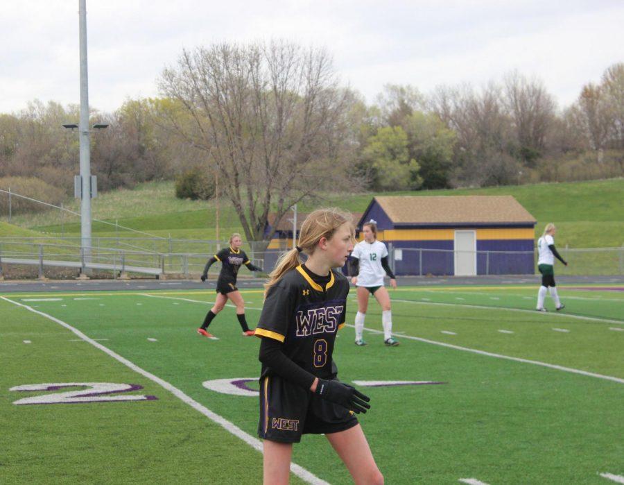 Freshman Mia McVay readies for a pass.