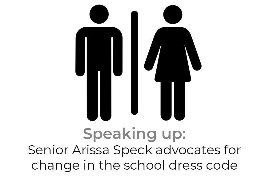 Speaking up: Senior Arissa Speck advocates for change in the school dress code